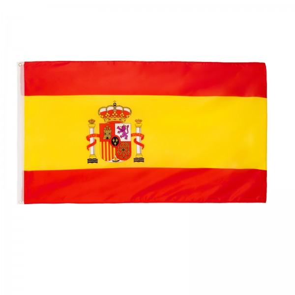 BRUBAKER Hissflagge Spanien Fahne Flagge 150 x 90 cm Banner mit Ösen zum Hissen
