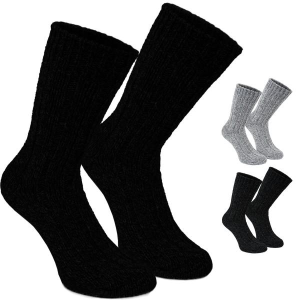 4 Paar Herren Norweger Socken aus Baumwolle