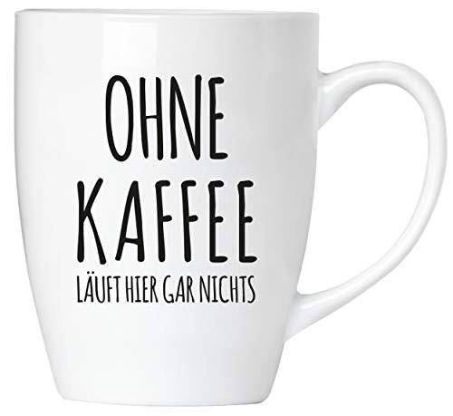 BRUBAKER - Ohne Kaffee läuft hier gar nichts! - Tasse aus Keramik