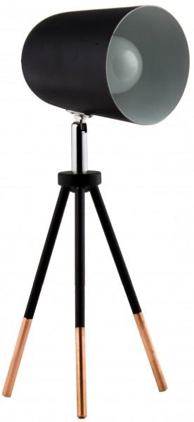 BRUBAKER Tripod Spot Leuchter 32 cm Metall Schwarz / Kupfer - Designed in Germany