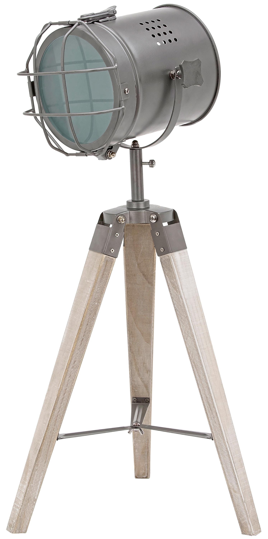 Stehlampe Aus Metall Stativbeine Aus Holz Industrial Design