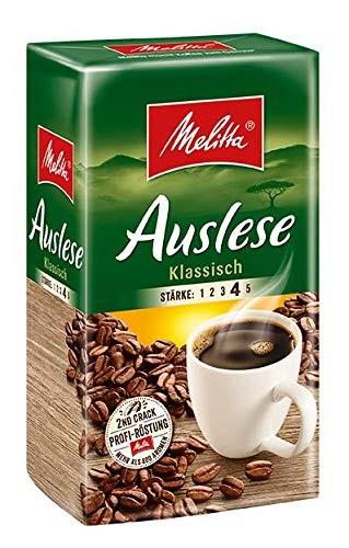 Melitta Gemahlener Röstkaffee, 12 x 500g, Filterkaffee, kräftiges Aroma, Stärke 4, Auslese Klassisch