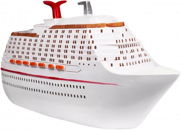Spardose Kreuzfahrt Luxusschiff weiß - originelle Geschenkidee