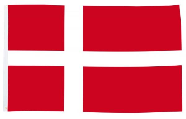 BRUBAKER Hissflagge Dänemark Fahne Flagge 150 x 90 cm Banner mit Ösen zum Hissen