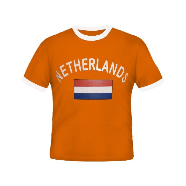 BRUBAKER Herren oder Damen Niederlande Fan T-Shirt Orange