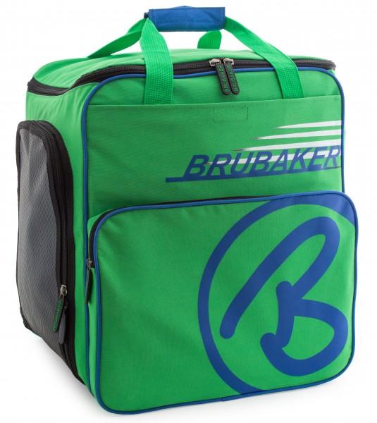 BRUBAKER Skischuhtasche Helmtasche Skischuhrucksack Super Champion Grün Blau - Limited Edition -