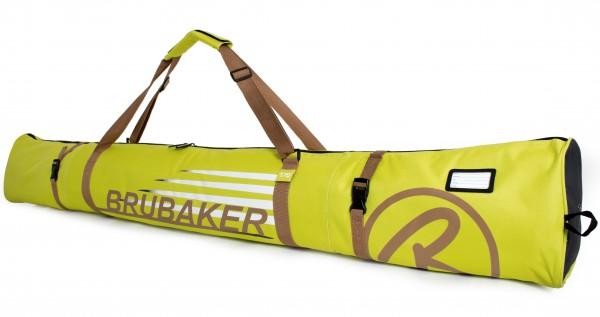 BRUBAKER Skitasche Carver Champion gepolsterter Skisack für 1 Paar Ski und Stöcke bis 190cm Hellgrün