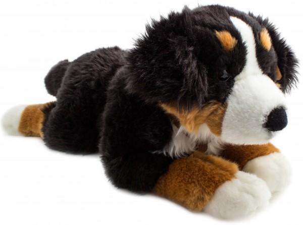 Brubaker Hund liegend 60 cm Berner Sennenhund mit Gurt Plüsch Kuscheltier