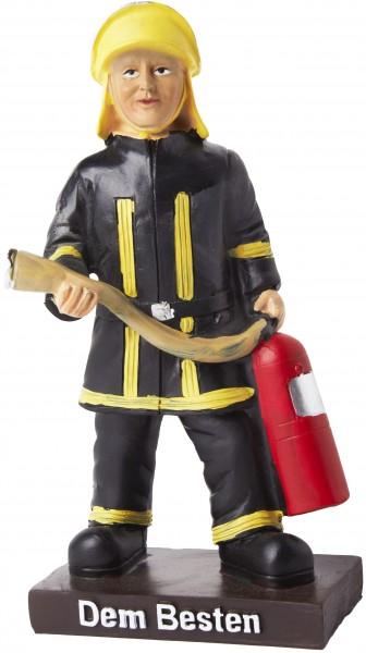 Pokal Feuerwehrmann Trophäe mit Sockel 15 x 7 cm - Dem Besten - Geschenkidee Feuerwehr