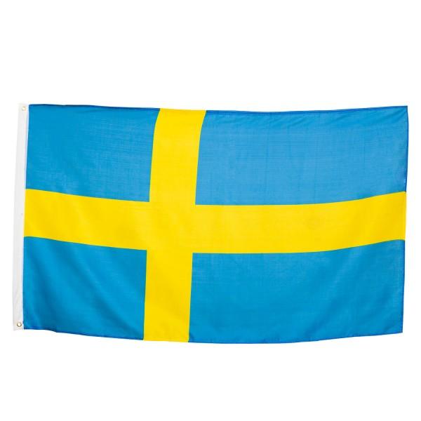 BRUBAKER Hissflagge Schweden Fahne Flagge 150 x 90 cm Banner mit Ösen zum Hissen
