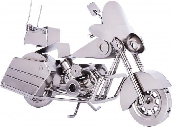 Dekofigur aus Eisen - Chopper mit Windschutzscheibe - 28 x 16,5 x 10,5 cm - Handarbeit