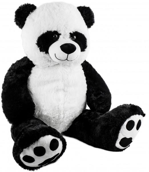 BRUBAKER XXL Panda 100 cm groß Stofftier Plüschtier Kuscheltier Teddybär
