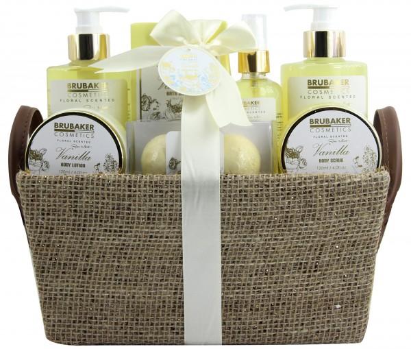 """9-teiliges Bade- und Dusch Set """"Vanilla Rose Mint"""" - Vanille Rosen Minze Duft - Geschenkset"""