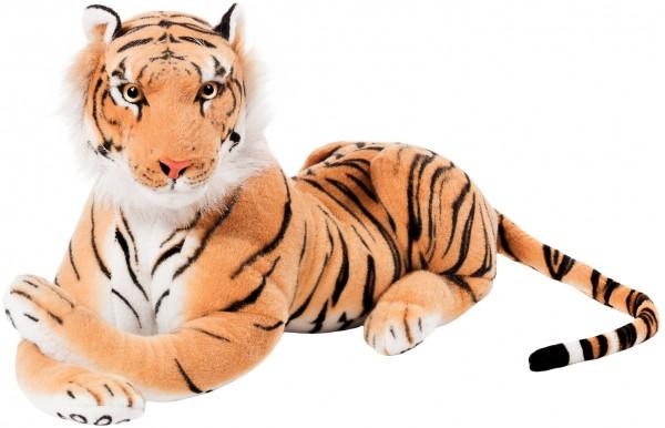 Tiger braun 75 cm liegend Stofftier Plüschtier