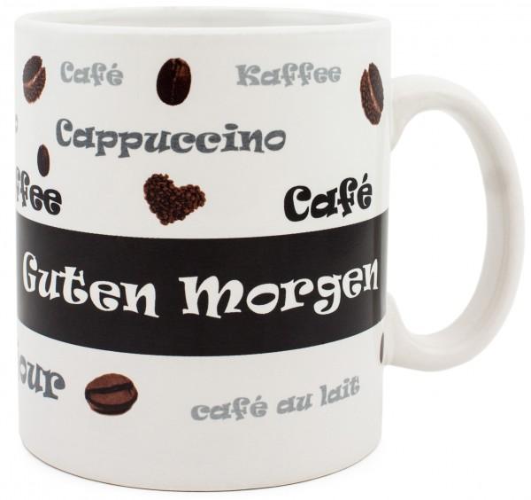BRUBAKER Jumbo Kaffebecher 'Guten Morgen' Keramik 650 ml