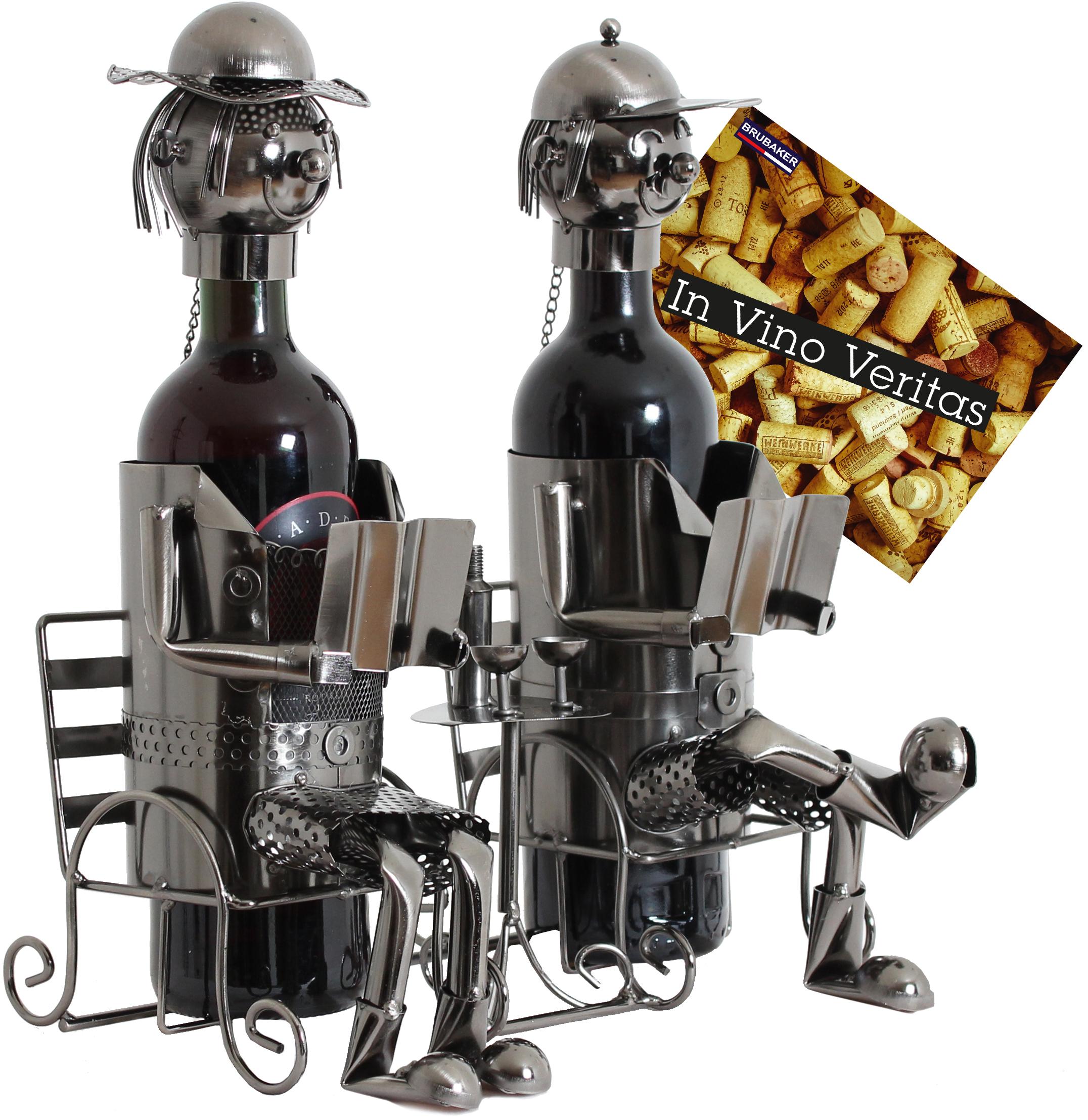 brubaker flaschenhalter ehepaar metall skulptur geschenk