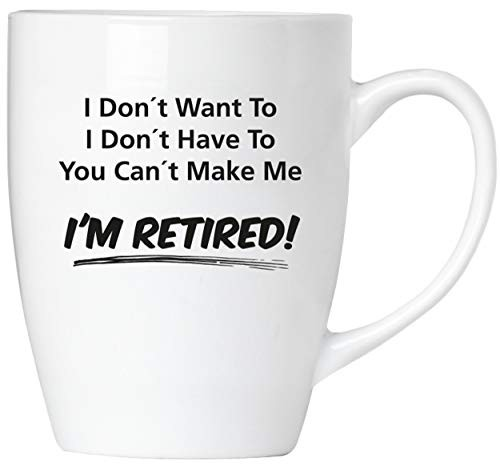 BRUBAKER - You Can't Make Me I'm Retired! - Tasse aus Keramik