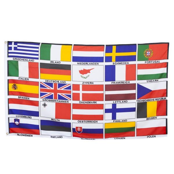 BRUBAKER Große Hissflagge Europa 25 Länder 150 x 90cm