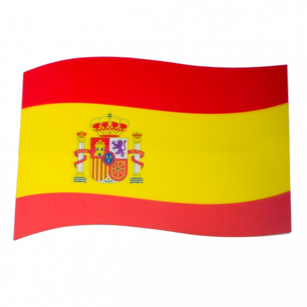 BRUBAKER Auto Magnetflagge Spanien mit 3D-Effekt