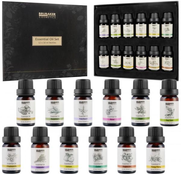 BRUBAKER Ätherische Öle - 10 ml Flaschen - Vegan - Duftöl für Diffusor, Massage, Aromath