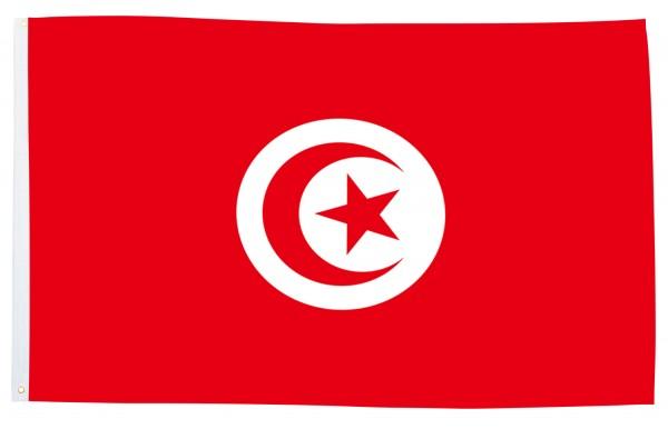 BRUBAKER Hissflagge Tunesien Fahne Flagge 150 x 90 cm Banner mit Ösen zum Hissen