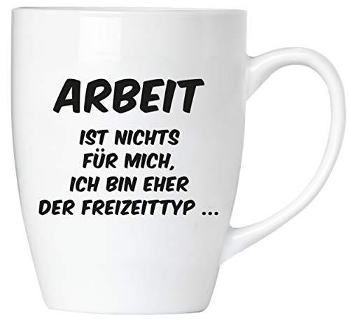 BRUBAKER - Arbeit ist nichts für mich - Tasse aus Keramik