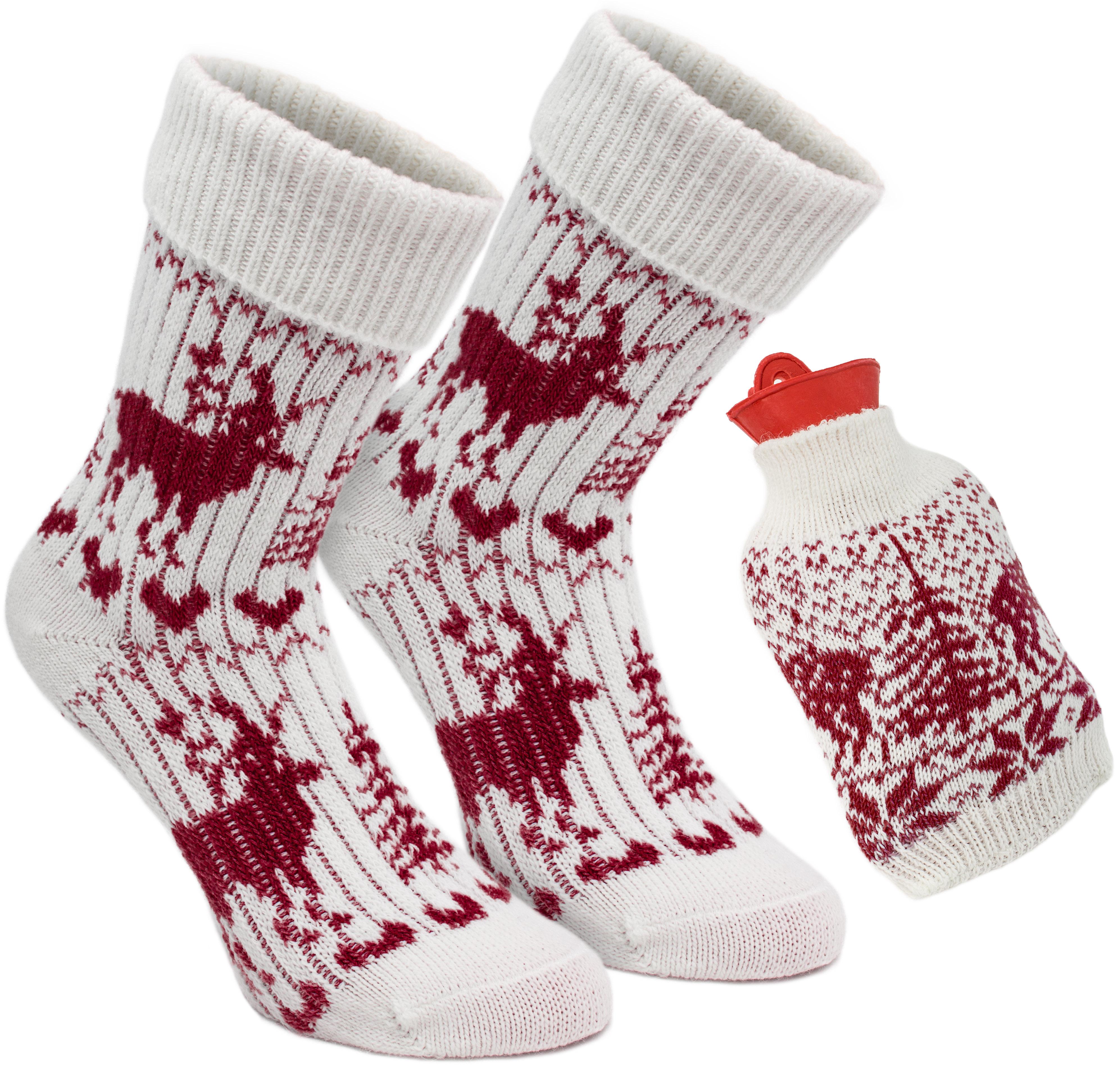 Neu werden doppelter gutschein Bestpreis 1 Paar Damen Norweger Socken - Kuschel Geschenk Set