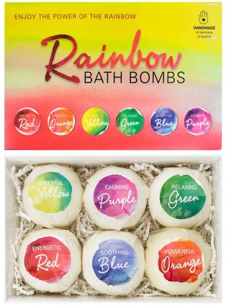 """6 teiliges Badebomben Geschenkset """"Rainbow"""" - Handgemacht - Vegan - Glutenfrei - Parabenfrei - mit S"""