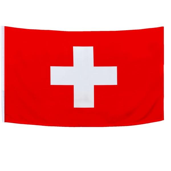 BRUBAKER Hissflagge Schweiz Fahne Flagge 150 x 90 cm Banner mit Ösen zum Hissen