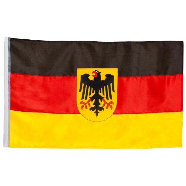 Flagge Fahne Deutschland mit Bundesadler große Hissfahne 90x150 cm von BRUBAKER