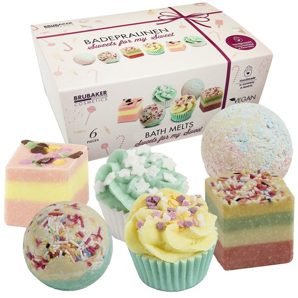 "6er Set BRUBAKER Cosmetics Badepralinen ""Sweets For My Sweet"" handgemacht und vegan"