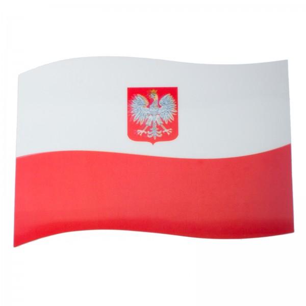 BRUBAKER Auto Magnetflagge Polen mit 3D-Effekt