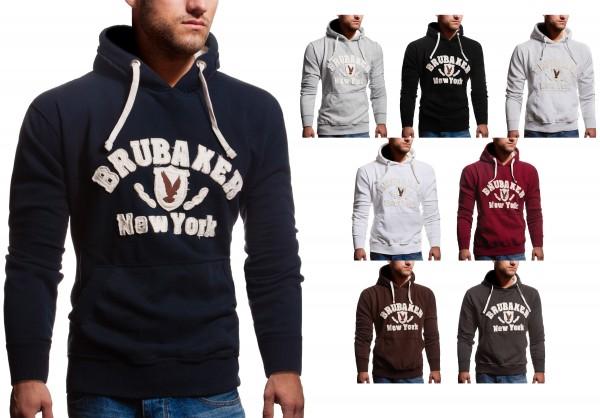 best website b567b b0fbe BRUBAKER Herren Sweatshirt mit Kapuze N.Y. Eagle