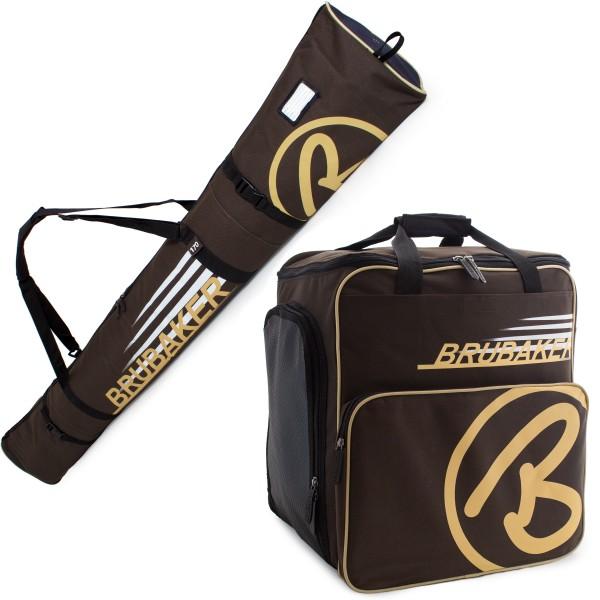 BRUBAKER Kombi Set CHAMPION - Limited Edition - Skisack und Skischuhtasche für 1 Paar Ski bis 190 cm