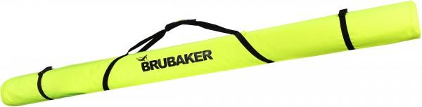 BRUBAKER XC Touring Langlauf Skitasche für 1 Paar Ski und 1 Paar Stöcke - Neon Gelb / Schwarz