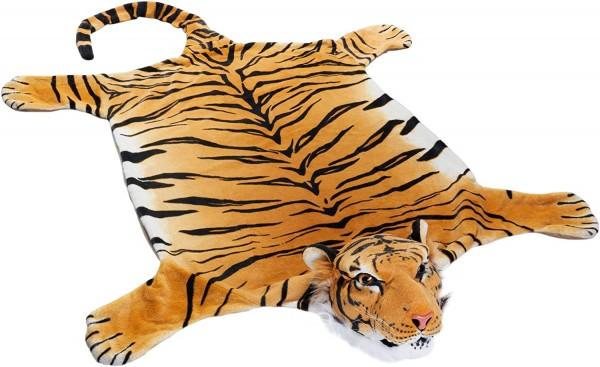 Tigerfell braun 200 x 120 cm (mit Schwanz) Bettvorleger Kaminvorleger