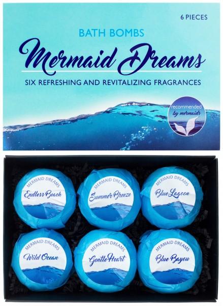 """6 teiliges Badebomben Geschenkset """"Mermaid Dreams"""" - Handgemacht - Vegan - Glutenfrei - Parabenfrei"""