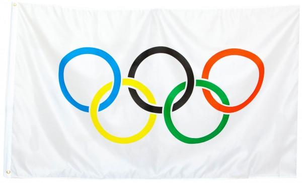 "Brubaker Große Olympiafahne / Hissfahne / Hängefahne ""Olympiade"" 150x90 cm"