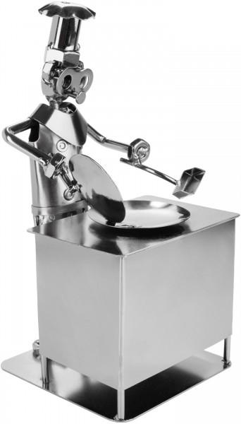 Schraubenmännchen Koch - Metallfigur Handarbeit - Geschenkidee für Meister- und Hobbyköche