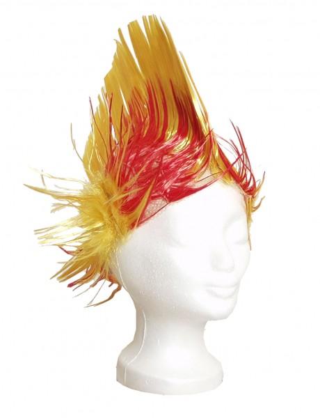 BRUBAKER Spanien Fan Perücke Irokese NEU! Iro-Perücke in Spaniens Nationalfarben Gelb und Rot!
