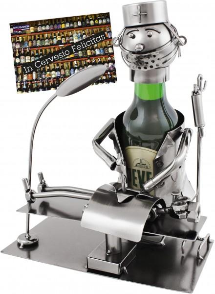 BRUBAKER Bier Flaschenhalter Chirurg - Metall Skulptur Inklusive Geschenkkarte