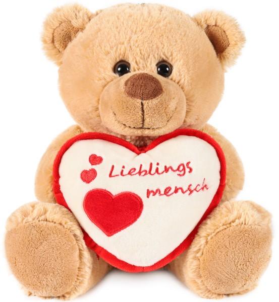 Teddy Plüschbär mit Herz - Lieblingsmensch - Teddybär Plüschteddy Kuscheltier Schmusetier
