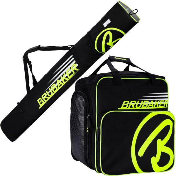 Kombi Set Carver Champion - Skitasche und Skischuhtasche für 1 Paar Ski + Stöcke + Schuhe + Helm