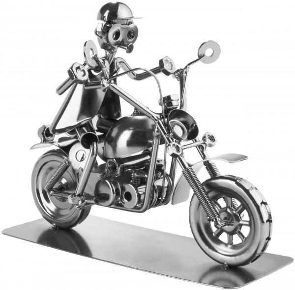 Schraubenmännchen Motorradfahrer - Metallfigur Handarbeit - Motorrad Geschenk