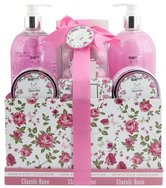 "13-teiliges Bade- und Dusch Set ""Classic Rose"" - Rosen Duft - Beauty Geschenkset in Geschenkbox"