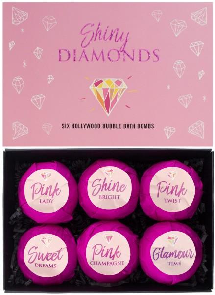 """6 teiliges Badebomben Geschenkset """"Shiny Diamonds"""" - Handgemacht - Vegan - Glutenfrei - Parabenfrei"""