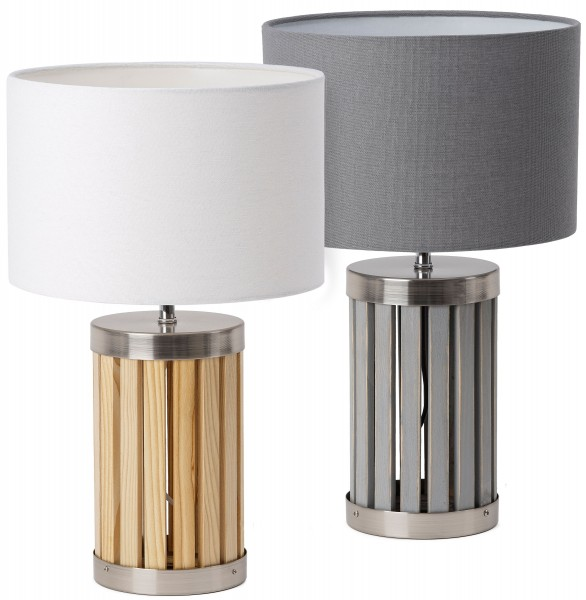 Tischlampe, Nachttischleuchte aus Holz
