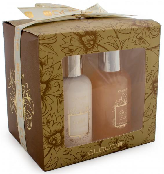 3-teiliges BRUBAKER Cosmetics Bade-Geschenkset gold