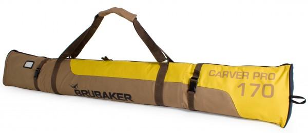 BRUBAKER Skitasche Carver Pro Limited Edition gepolsterter Skisack für 1 Paar Ski und Stöcke bis 190