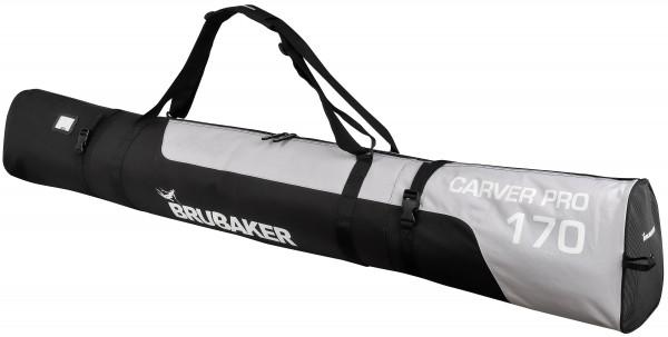 CarverPro XP Skisack mit gepolsterten Schulterträgern für 1 Paar Ski und Stöcke - Schwarz Silber